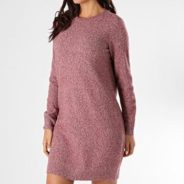 Vero Moda - Robe Pull Femme Doffy Bordeaux Chiné