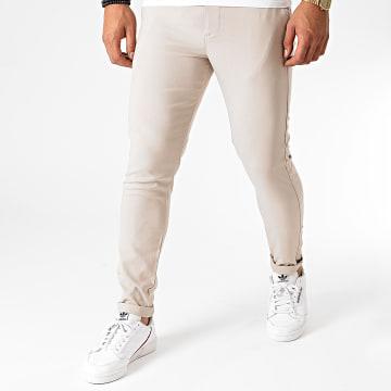 Aarhon - Pantalon Chino A006 Beige Clair