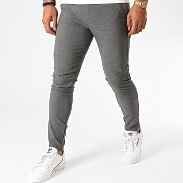Aarhon - Pantalon Chino A006 Gris Chiné