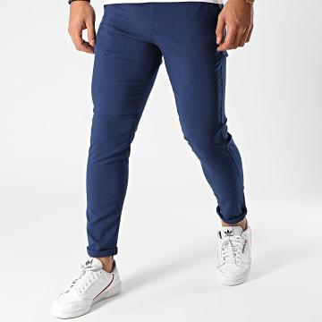 Aarhon - Pantalon Chino A006 Bleu Indigo