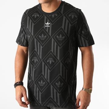 Adidas Originals - Tee Shirt Monogram GD5838 Noir Gris
