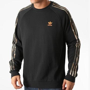 Adidas Originals - Sweat Crewneck A Bandes Camouflage GD5947 Noir