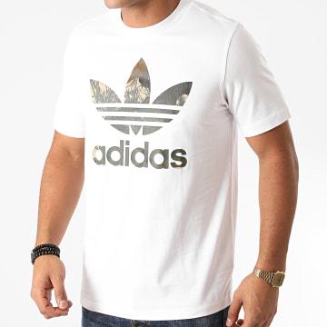 Adidas Originals - Tee Shirt Camouflage Trefoil GD5949 Blanc
