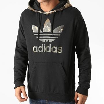 Adidas Originals - Sweat Capuche Camouflage Block GD5956 Noir