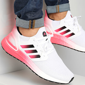 Adidas Performance - Baskets Ultraboost 20 EG5177 Footwear White Core Black Signal Pink