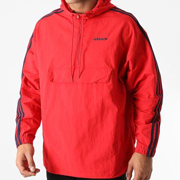 Adidas Originals - Coupe-Vent A Bandes Classics GD2060 Rouge Bleu Marine