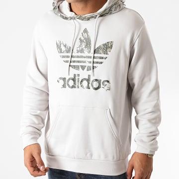 Adidas Originals - Sweat Capuche Camouflage Block GD5955 Gris Clair