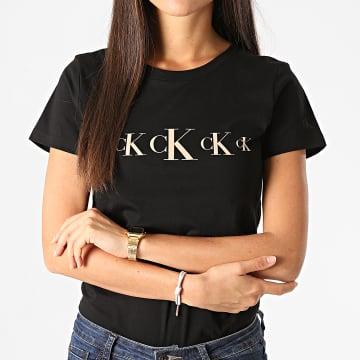Calvin Klein - Tee Shirt Femme CK Eco Slim 4791 Noir