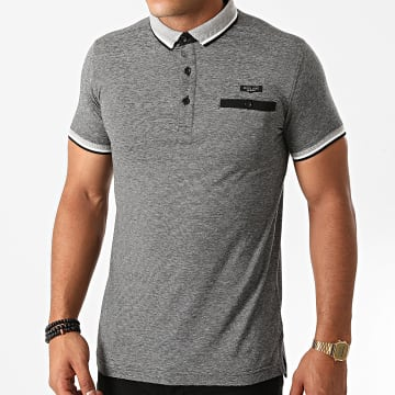 Deeluxe - Polo Manches Courtes Drexler Gris Anthracite Chiné