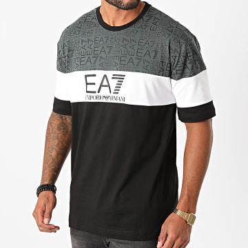 EA7 - Tee Shirt 6HPT12-PJ02Z Noir Blanc Gris Anthracite