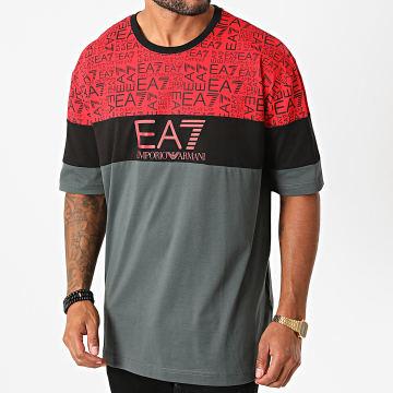 EA7 - Tee Shirt 6HPT12-PJ02Z Gris Anthracite Noir Rouge