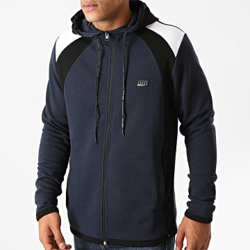 Jack And Jones - Sweat Zippé Capuche Nolan Bleu Marine
