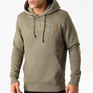 Jack And Jones - Sweat Capuche Crossing Vert Kaki