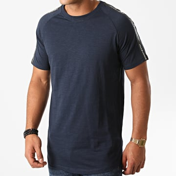 Jack And Jones - Tee Shirt A Bandes Oversize Curve Train Bleu Marine
