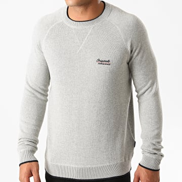 Jack And Jones - Sweat Crewneck Joes Gris Chiné