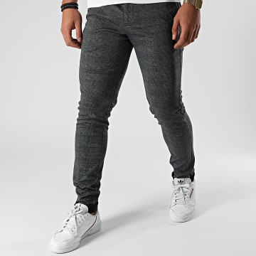 Jack And Jones - Pantalon A Carreaux Marco Phil Gris Anthracite