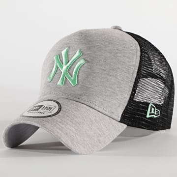 New Era - Casquette Trucker Jersey Essential 12490235 New York Yankees Gris Chiné