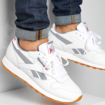 Reebok - Baskets Classic Leather FV1964 White Grey Vector Red