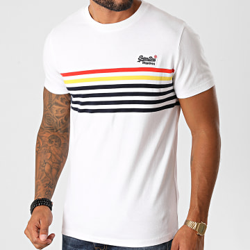 Superdry - Tee Shirt OL Weekender Bretton M1010207A Blanc