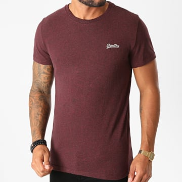 Superdry - Tee Shirt OL Vintage Embroidery M1010222A Bordeaux Chiné