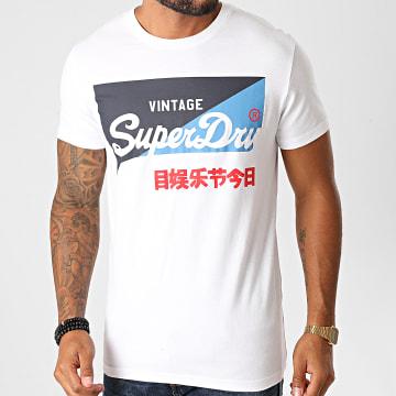 Superdry - Tee Shirt VL O Primary M1010346A Blanc