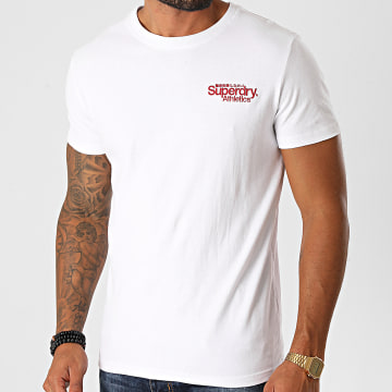 Superdry - Tee Shirt CL Athletics Micro M1010353A Blanc