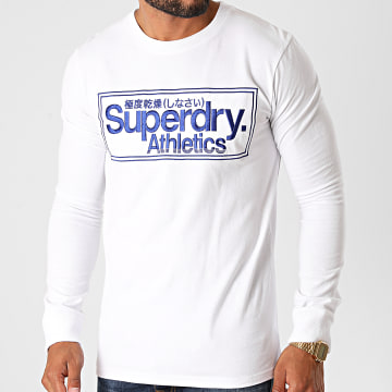 Superdry - Tee Shirt Manches Longues CL Athletics M6010157A Blanc