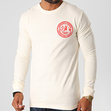 Superdry - Tee Shirt Manches Longues Everest M6010177A Beige