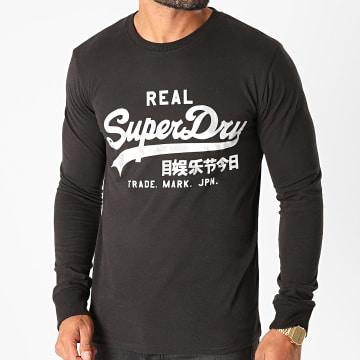 Superdry - Tee Shirt Manches Longues VL Infill M6010178A Noir