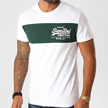 Superdry - Tee Shirt VL Panel M1010560A Blanc