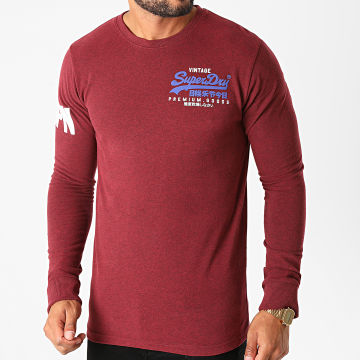 Superdry - Tee Shirt VL Duo M6010154B Bordeaux Chiné