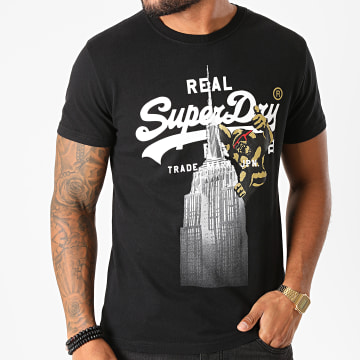 Superdry - Tee Shirt VL NYC Photo M1010347B Noir
