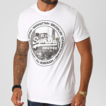 Superdry - Tee Shirt VL NYC Photo M1010347B Blanc