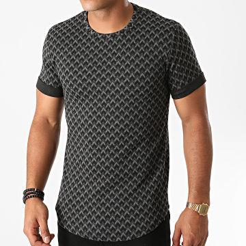 Terance Kole - Tee Shirt Oversize TK328 Noir Gris Chiné