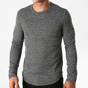 Terance Kole - Pull Oversize TK318 Gris Anthracite Chiné