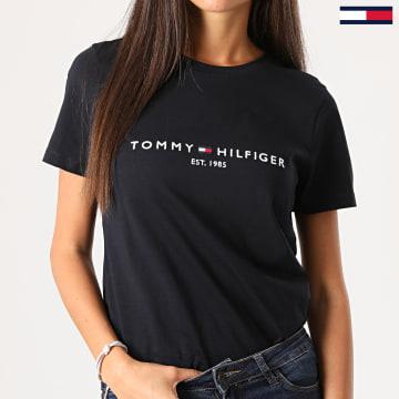 Tommy Hilfiger - Tee Shirt Femme Essential 8681 Bleu Marine