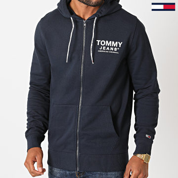 Tommy Jeans - Sweat Zippé Capuche Essential Graphic 8414 Bleu Marine