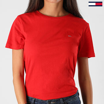 Tommy Jeans - Tee Shirt Femme Soft Jersey 6901 Rouge