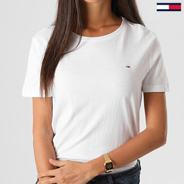 Tommy Jeans - Tee Shirt Femme Soft Jersey 6901 Blanc