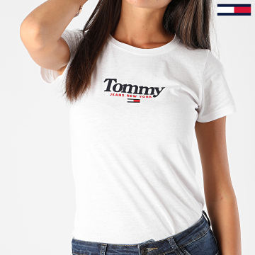 Tommy Jeans - Tee Shirt Femme Essential Logo 8928 Blanc