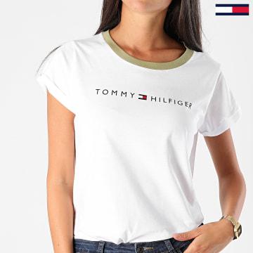 Tommy Hilfiger - Tee Shirt Femme Logo 1618 Blanc
