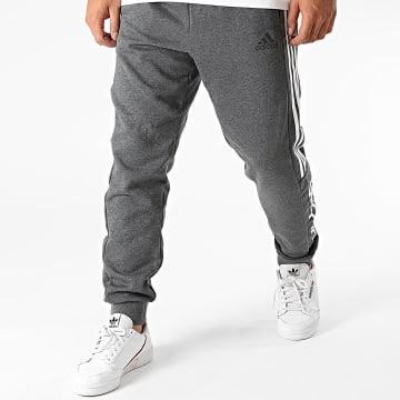 Adidas Performance - Pantalon Jogging A Bandes Essential Colorblock GD5474 Gris Anthracite Chiné