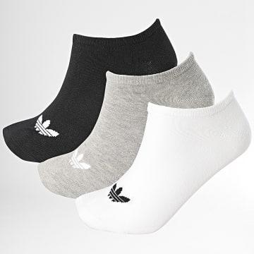 Adidas Originals - Lot De 3 Paires De Chaussettes Basses FT8524 Noir Blanc Gris Chiné