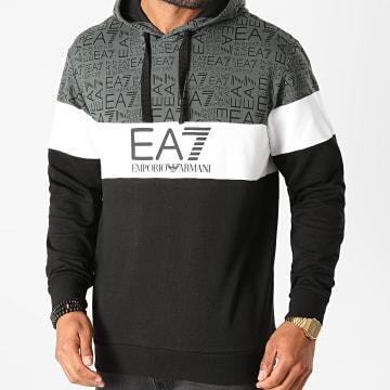 EA7 - Sweat Capuche 6HPM28-PJ05Z Gris Anthracite Noir