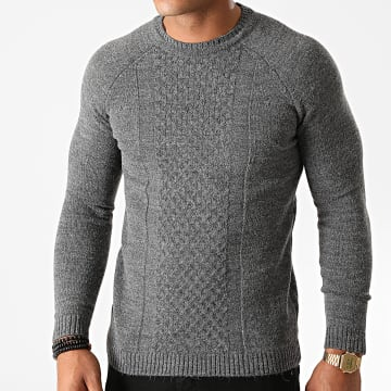 Ikao - Pull LL172 Gris Anthracite Chiné