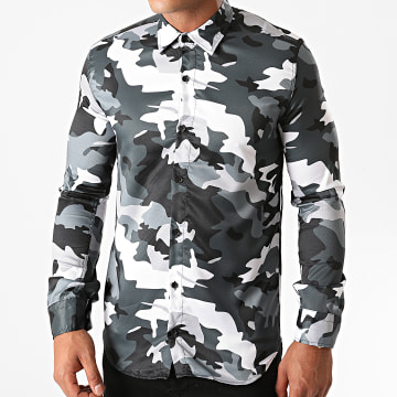 Ikao - Chemise Manches Longues LL149 Vert Camouflage