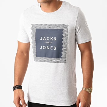 Jack And Jones - Tee Shirt Cap Gris Chiné