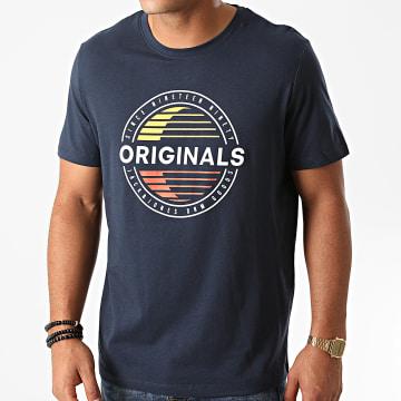 Jack And Jones - Tee Shirt Workwear Bleu Marine