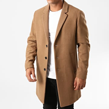 Jack And Jones - Manteau Moulder Wool Marron Clair