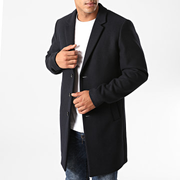 Jack And Jones - Manteau Moulder Wool Bleu Marine